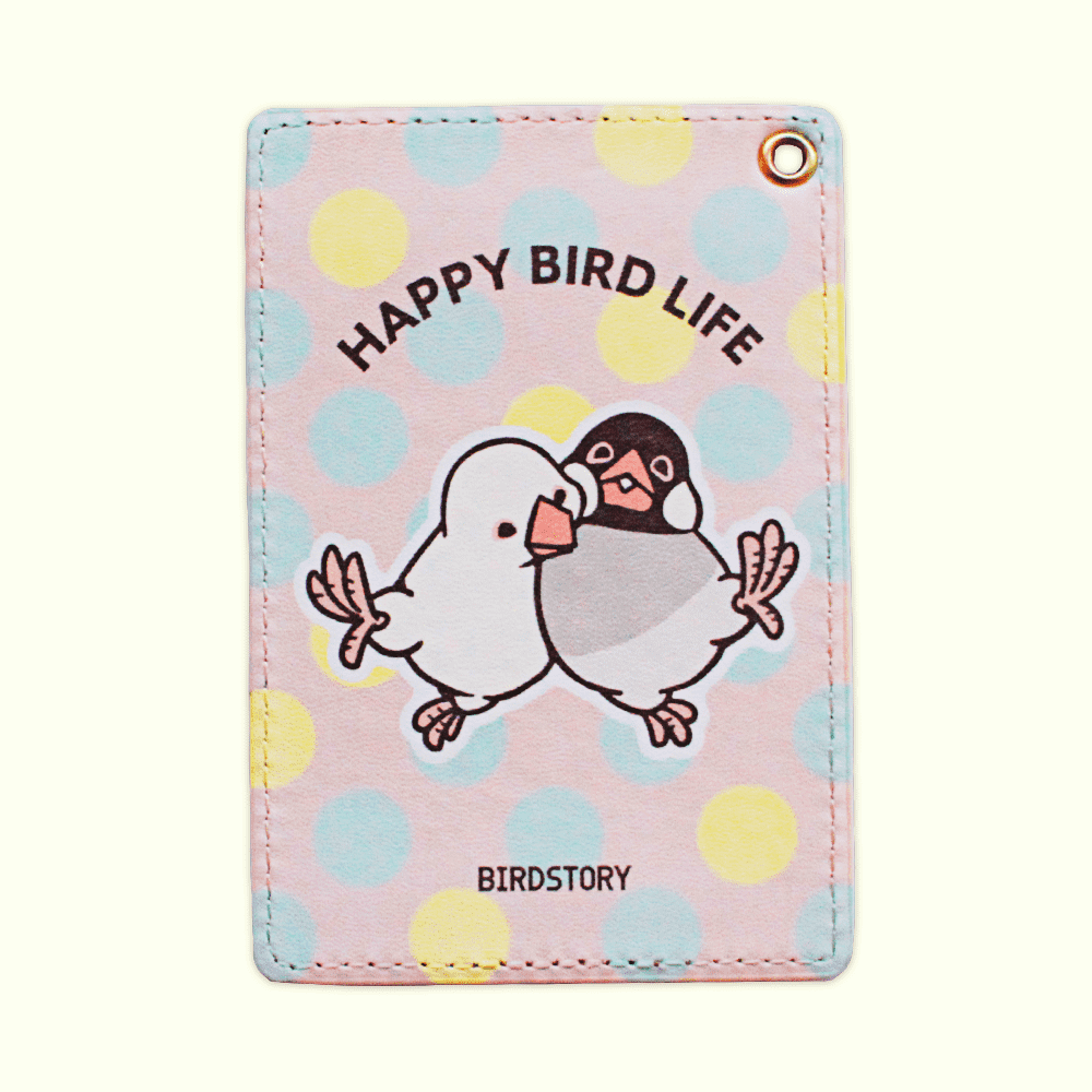 パスケース(HAPPY BIRD LIFE / 文鳥)/¥1,650(税込)