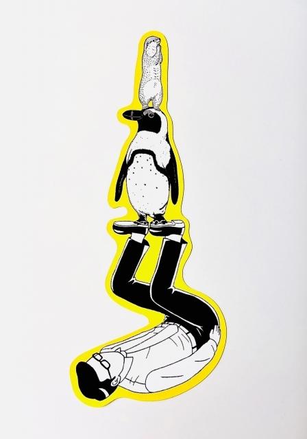 【いきもーる限定販売】ステッカー コツメカワウソ×ケープペンギン/¥330(税込)