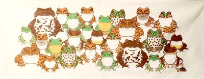 日本の蛙てぬぐい/¥1,320(税込)