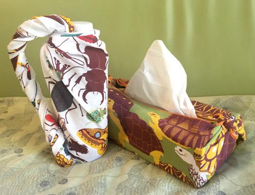 手拭いで包むと持ち物もプレゼントも一気にかわいく!