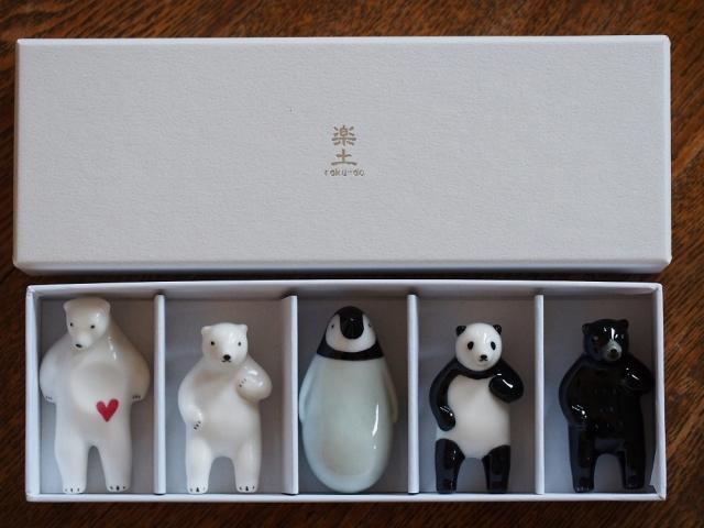 アソート箸置き5個set(+Panda)/¥4,350(税込)