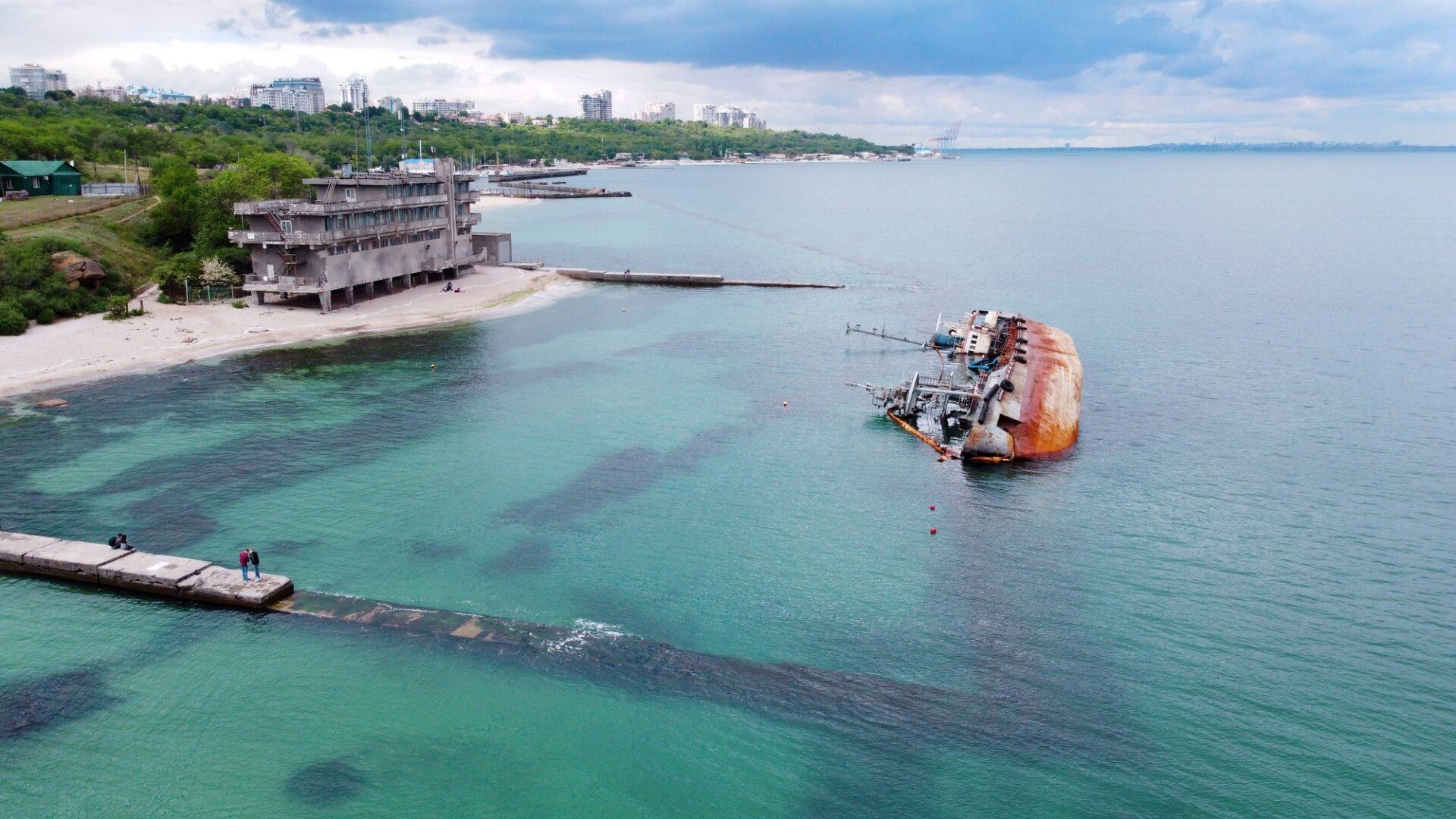 座礁事故による油流出(イメージ)