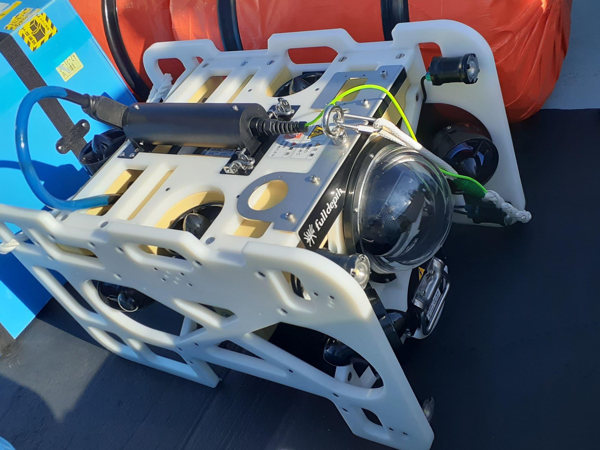 サンシャイン水族館所有の水中ドローン。FullDepth(フルデプス)社のダイブユニット300